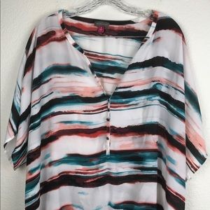 Vince Camuto Blouse SZ XL Stripped NWOT